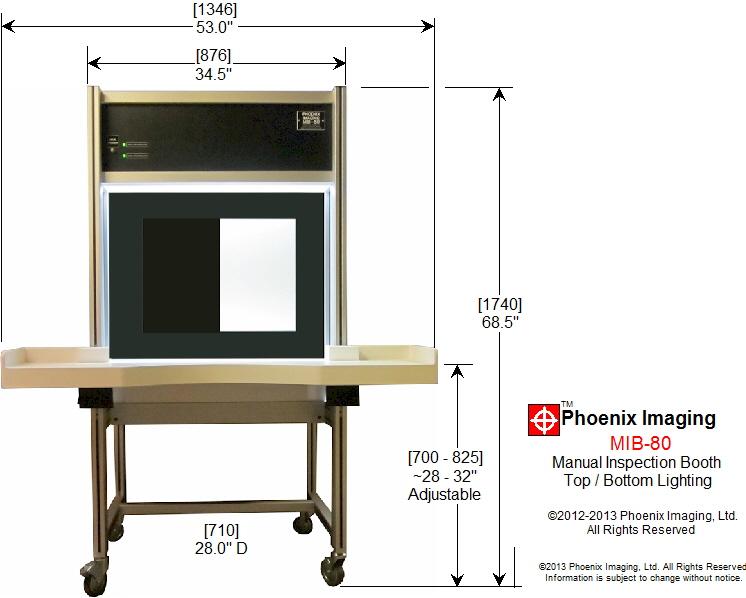 Phoenix Imaging MIB-80 Physical Dimensions